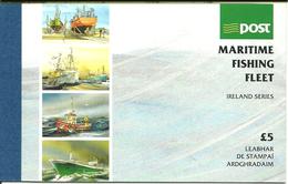 Ireland 1991 Fishing, Fishing Boats Mi 771-774 + Jewelry  In Souvenir Booklet MH 19, MNH(**) - 1949-... République D'Irlande