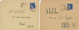 Réfugiés Espagnols 2 Devants De Lettres Adressés Des Camps De St Cyprien Et ARGELES Au SERE 1939 - Marcofilia (sobres)
