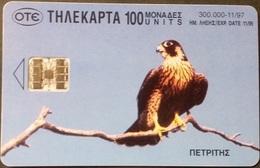 Telefonkarte Griechenland - 11/97 - Vogel , Bird - Storch  - Aufl. 300000 - Griechenland