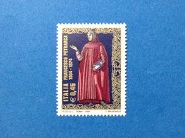 2004 ITALIA FRANCESCO PETRARCA POETA FRANCOBOLLO NUOVO STAMP NEW MNH** - 1946-.. République