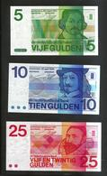 PAYS - BAS / NETHERLANDS / OLANDA - 25, 10, 5 GULDEN  (1971 / 1968 / 1973) Lot Of 3 Different Banknotes - [2] 1815-… : Regno Dei Paesi Bassi