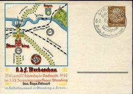 49527 Germany Reich,stationery Card Postkarte 3pf.postmark Straubing 1940 Werbeschau Kreis Sammlergruppe - Briefe U. Dokumente