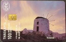 Telefonkarte Griechenland - 08/98 - Mühle - Tracht - Tradition - Aufl. 170000 - Griechenland