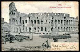 """ROMA - Colosseo - """"Anfiteatro Flavio"""" - Cartolina Postale Viaggiata Anno 1906 - Colosseo"""