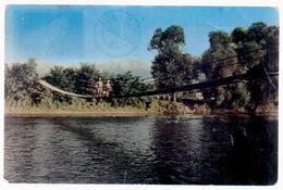 Post Card Romania 1966, R.P.R, The Bridge Suspended Over THE Olt ,  Avrig,circulated Avrig Brasov To Fetesti Gara - Roemenië