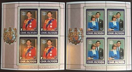 Cook Islands 1981 Royal Wedding Sheetlets MNH - Islas Cook