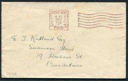 1927 GB Margate Kent Paid Krag Machine Cancel Cover. G.E. Houghton Ltd - Broadstairs - 1902-1951 (Kings)