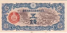 BILLETE DE CHINA DE 5 SEN DEL AÑO 1939 SIN CIRCULAR (BANKNOTE) UNCIRCULATED - China