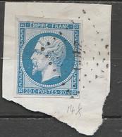 PIA - FRANCIA - 1853-60 : Imperatore Napoleone III  - (Yv 14B) - 1853-1860 Napoléon III
