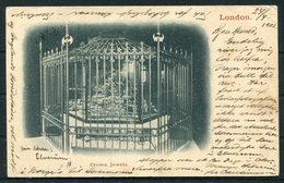 1902 GB Crown Jewels Postcard. Paddington London - Middelburg Holland - 1902-1951 (Kings)