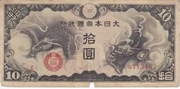 BILLETE DE CHINA DE 10 YEN DEL AÑO 1940  (BANKNOTE) - China