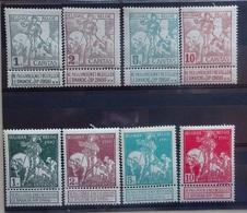 BELGIE  1910    Nr. 84 - 91   Scharnier *    CW  35,00 - 1910-1911 Caritas