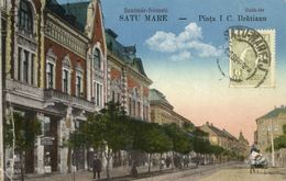 Romania, SATU MARE, Piața I. C. Brătianu, Shops (1926) Postcard - Roemenië