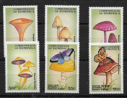 Serie De Dominica Nº Yvert 2166/71 ** SETAS (MUSHROOMS) - Dominica (1978-...)