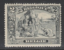 Belgium  146b  (witte Zwarte)  X (MH)  Cote 55,00 Euro - 1915-1920 Alberto I