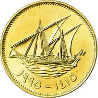 Monnaie, Kuwait, Jabir Ibn Ahmad, 10 Fils, 1995/AH1415, SPL, Nickel-brass, KM:11 - Koweït