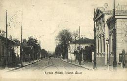 Romania, GALAȚI, Strada Mihai Bravu (1910s) Postcard - Roemenië