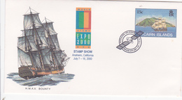 Pitcairn Islands 2000 Stamp Show, Souvenir Cover - Pitcairn Islands