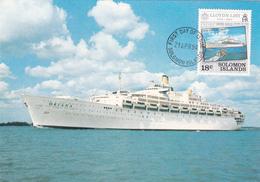 Solomon Islands 1984 Lloyd's List, Oriana Ship, Maximum Card - Pitcairn Islands