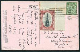"1913 GB International Stamp Exhibition ""Ideal"" Postcard. Edinburgh Philatelic Congress Vignette - 1902-1951 (Kings)"
