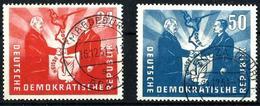 Alemania Oriental Nº 36/37 Usado Cat.50€ - Used Stamps