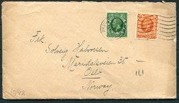 1935 GB London Paddington Cover - Oslo Norway - 1902-1951 (Kings)