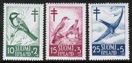 1952 Finland Birds, Tub., Full Set  **. - Finland