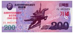 NORTH KOREA COMMRMORATIVE 200 WON 2018 Pick New Unc - Korea, North