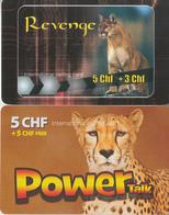 SWITZERLAND - PHONE CARD - TAXCARD ***   PRÉPAID  2 X PANTHÈRE  *** - Oerwoud