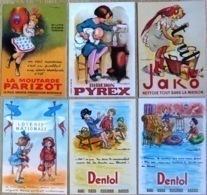 Lot De 6 CPM Publicitaires Illustrées Par POULBOT (reproductions) Voir Scans Recto / Verso. - Poulbot, F.