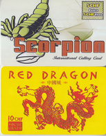 SWITZERLAND - PHONE CARD - TAXCARD ***   PRÉPAID  - SCORPION & DRAGON  *** - Otros