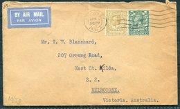 1931 GB Airmail Cover London - Melbourne Australia. Kingsford Smith Flight - 1902-1951 (Kings)