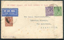 1932 GB Imperial Airways First Flight London - Cape Town - Khartoum Sudan Air Mail - 1902-1951 (Kings)