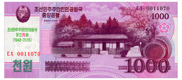 NORTH KOREA COMMRMORATIVE 1000 WON 2018 Pick CS21 Unc - Korea (Nord-)