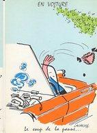 Illustrateur LASSALVY - EN VOITURE - Le Coup De La Panne... (ciel Couleur Bleu) CP Sans N° - Lassalvy