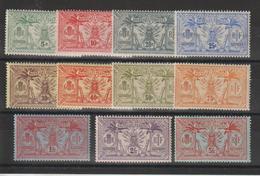 Nouvelle Hébrides Légende Française 1911-12 Idole Indigène 27-37 11 Val ** MNH - Légende Française