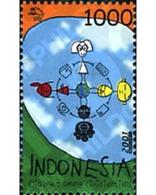 Ref. 80846 * MNH * - INDONESIA. 2001. YEAR OF DIALOGUE AMONG CIVILIZATIONS . AÑO INTERNACIONAL DEL DIALOGO ENTRE CIVILI - Indonesia