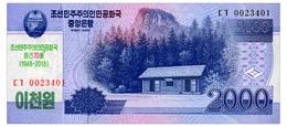 NORTH KOREA COMMRMORATIVE  2000 WON 2018 Pick CS22 Unc - Korea (Nord-)