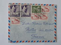 Lot De 2 Enveloppes Envoyées De Santiago De Angol San Felipe Au Chili Vers Bolbec  ... Lot41 . - Storia Postale
