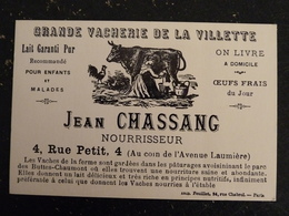 MUSEE DE L'AFFICHE ET DU TRACT - JEAN CHASSANG GRANDE VACHERIE DE LA VILLETTE A PARIS AFFICHE DE 1902 - Musei
