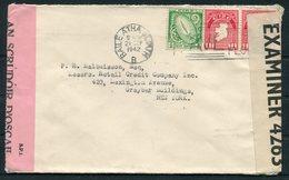 1942 Ireland Duel Censor Cover - Lexington Avenue, New York City, USA - 1937-1949 Éire