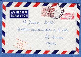 Yugoslavia To Algerie  Airmail 1964. - Posta Aerea