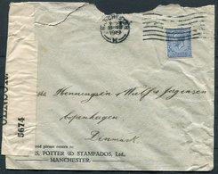 1919 GB Manchester Coates, Potter And Stampados (Malt Exporters) Censor Cover - Copenhagen Denmark. - 1902-1951 (Kings)
