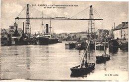 FR44 NANTES - Chapeau 397 - Le Transbordeur Et Le Port Au Quai De Tourville - Belle - Nantes