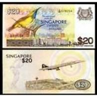 SINGAPORE 20 DOLLARS ND 1979 P 12 UNC - Singapur