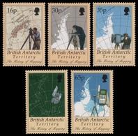 BAT / Brit. Antarktis 1998 - Mi-Nr. 267-271 ** - MNH - Kartographie - Ungebraucht