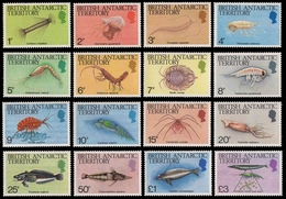 BAT / Brit. Antarktis 1984 - Mi-Nr. 108-123 ** - MNH - Meeresleben / Marine Life - Ungebraucht