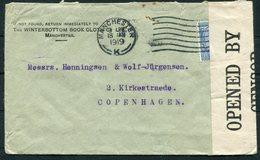 1919 GB Manchester, Winterbottom Book Cloth Co.Censor Cover - Copenhagen Denmark. - 1902-1951 (Könige)