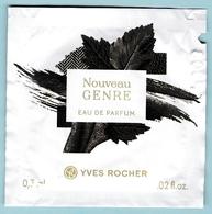 POCHETTE PARFUMEE YVES ROCHER : NOUVEAU GENRE, EAU DE PARFUM - Cartes Parfumées