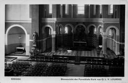 Laeken  Binnenzicht Der Parochiale Kerk Van Onze Lieve Vrouw Lourdes  Fotokaart Foto    M 1790 - Edegem